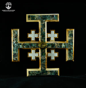 Jerusalem Cross Mother of Pearl