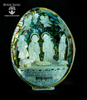 Nativity in Abalone Shell