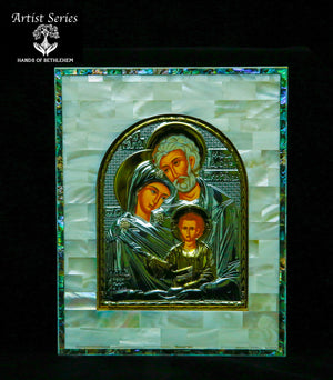 Holy Family Icon-Mother of Pearl