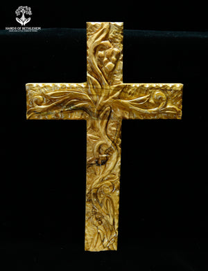 Cross with Hand-carved Details