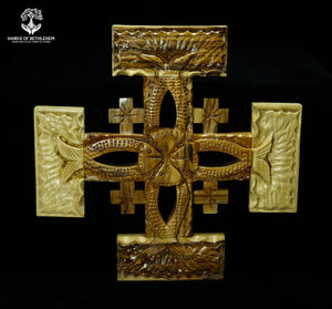 Jerusalem Cross with Large Ichthus