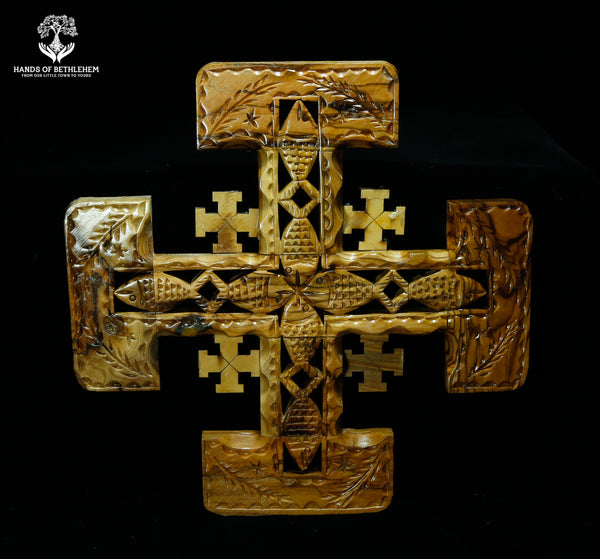 Jerusalem Cross with Small Ichthus