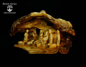 ARTIST SERIES-Nativity Set in Natural Cave