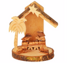 Miniature Nativity with Natural Bark