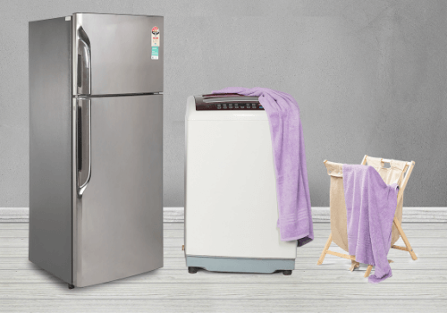 Double Door Fridge and Top Load Washing Machine Combo
