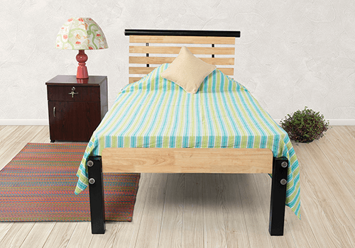 Rubberwood Single Bed