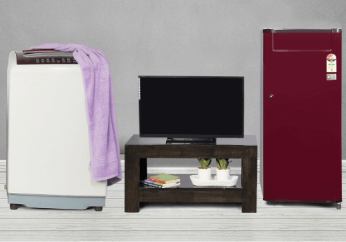 TV Fridge and Washing Machne Combo
