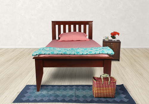 Solid Wood Single Bed and Mattress Combo