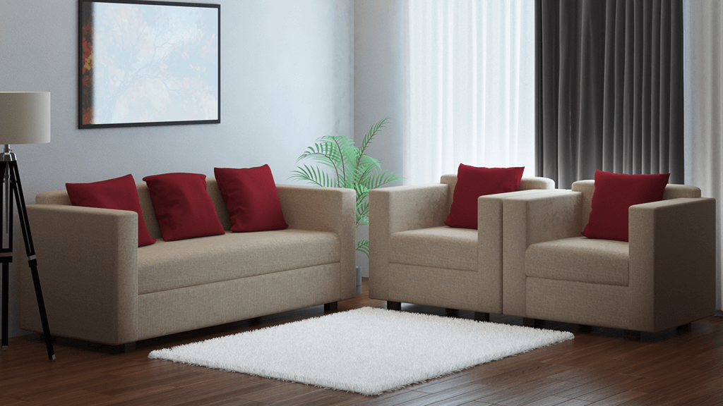 Sofa Fabric 3+1+1 seater