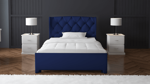 Navy Single Fabric Wing Bed 6X4