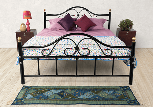 Wrought Iron Double Bed and Mattress Combo