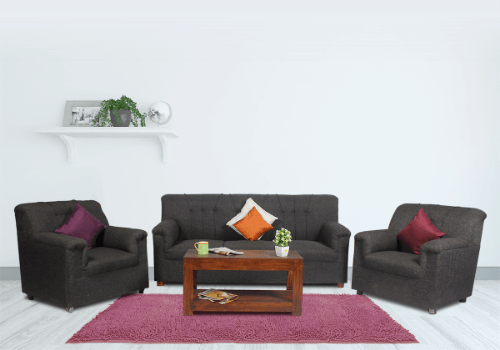 Jute Sofa 5 Seater and Center Table Combo