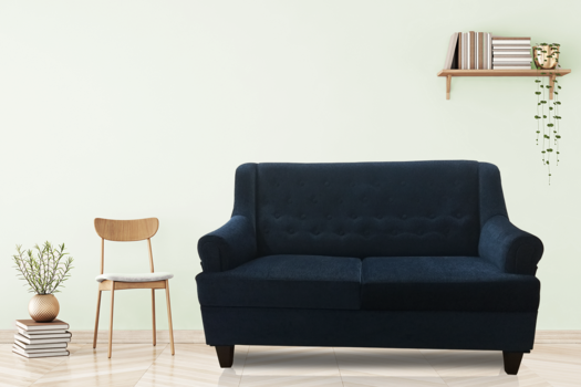 Brand New 2 (Two) Seater Royal Blue Sofa | Malphino Material