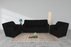 Guarented 5 Seater Sofa Set (Black) (3+1+1) Modern Style & BMW Fabric Material