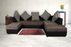 Brand New Plus Pulsation 5 Seater Sofa - Grey-Black