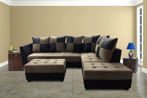 Brand New Rexine & Velvet 5 Seater L Shape Sofa