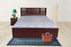 Brand New Wooden Queen Size Double Bed without Storage (Walnut Color)