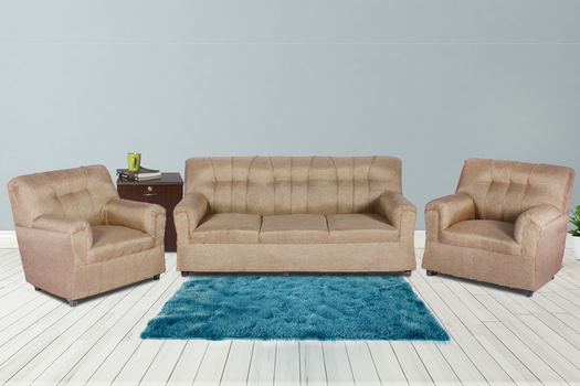 Brand New Upholstered 5 Seater Sofa Camel