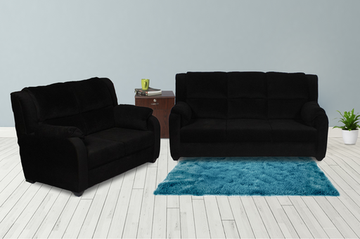 Brand New Plus Walter 5 Seater Sofa Black