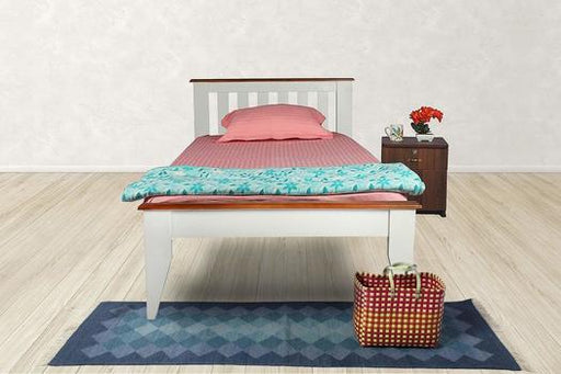 Brand New Solid Wood (Acacia) Single Bed (White Color)
