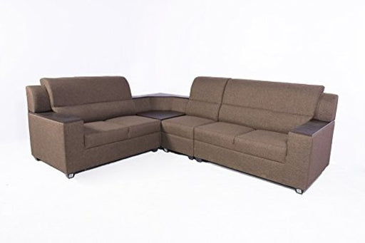 Brand New Jute L-Shape Sofa Set(Brown)