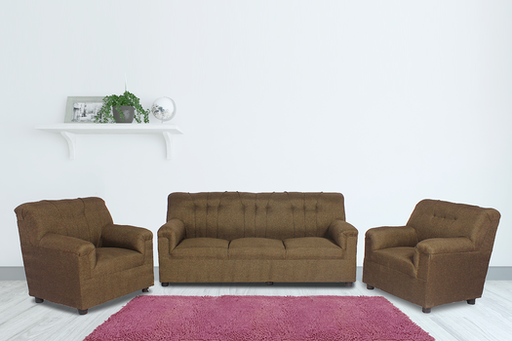 Brand New Upholstered 5 Seater Sofa Brown