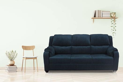 Brand New Upholstered Three Seater Sofa Set (Blue)