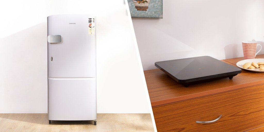 Fridge & Induction Combo
