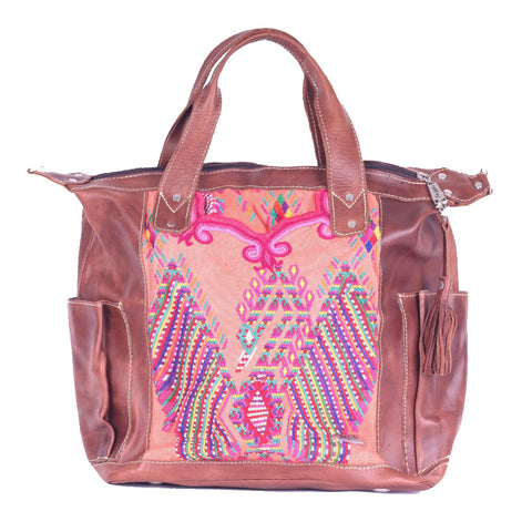 Huipil Convertible Day Bag no.0085 - Tia Sadie