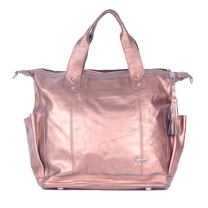 Bitty Rose Gold Convertible Day Bag - Tia Sadie