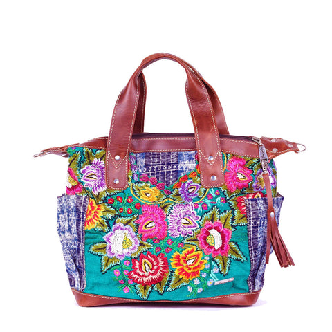 Bitty Huipil Convertible Day Bag no.0019 - Tia Sadie
