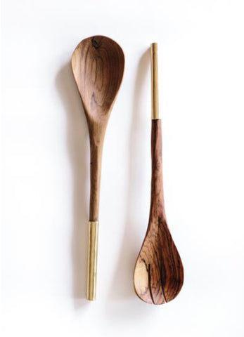 Shaba Utensil Set- Brass