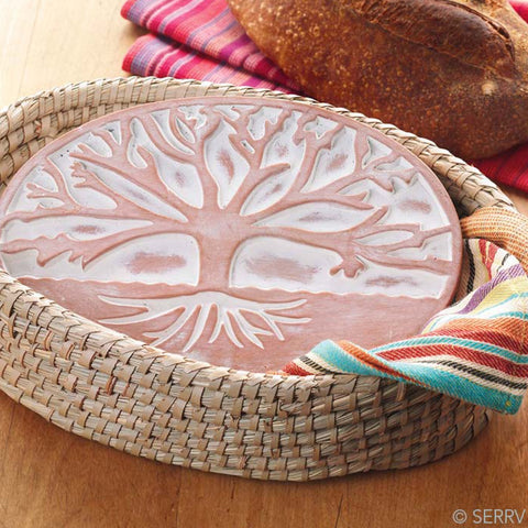 Tree of Life Bread Warmer & Basket (Local Pickup/Local Delivery Only*)
