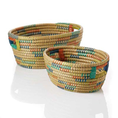 Color-Wrapped Oval Kaisa Basket - Large (Local Pickup/Local Delivery Only)