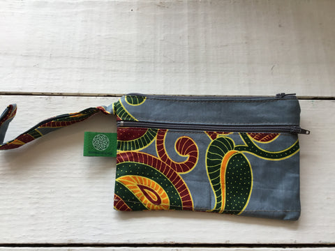 TCC-Small Triple Zip Wristlet
