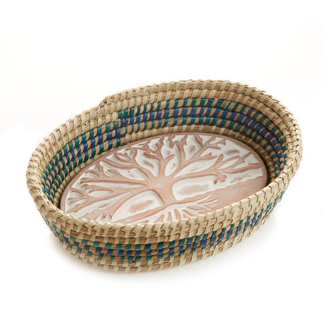 Tree of Life Bread Warmer - Blue Detail (Local Pickup/Local Delivery Only*)