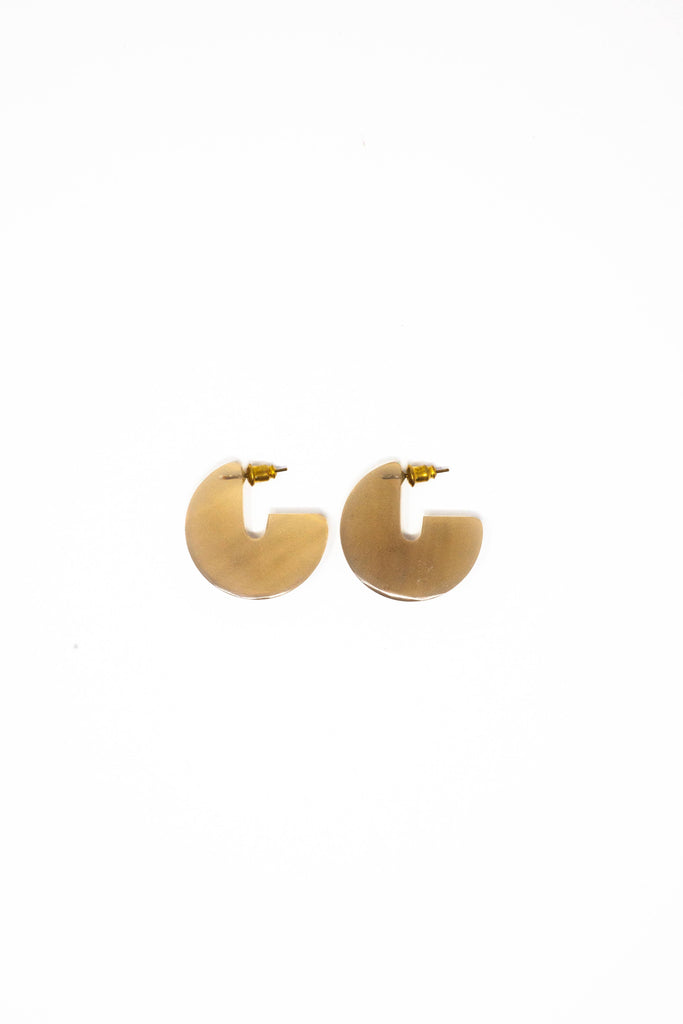 Horn Disc Earrings - Small