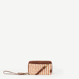 Latika Orange Triangle Wristlet Wallet