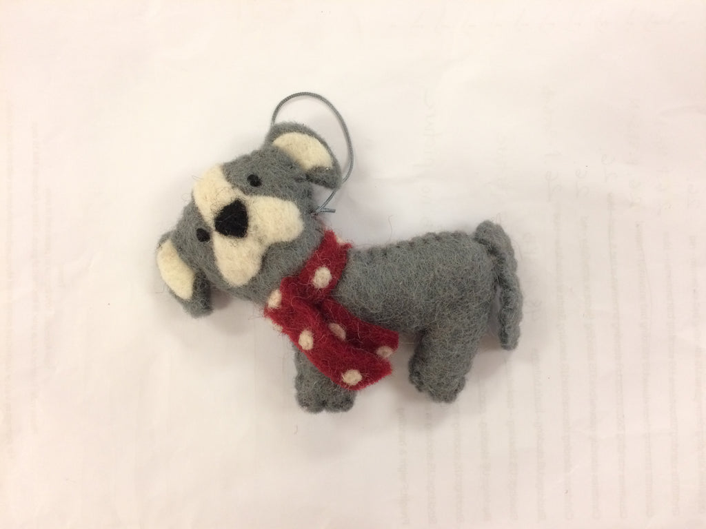 Christmas Ornament - Staffy Dog