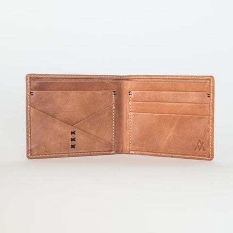 Bifold Men's Wallet in Camel