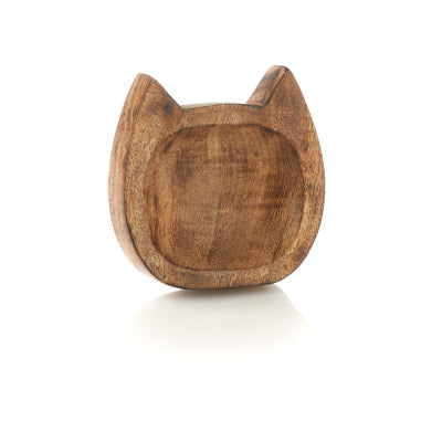 Carved Kitty Trinket Dish