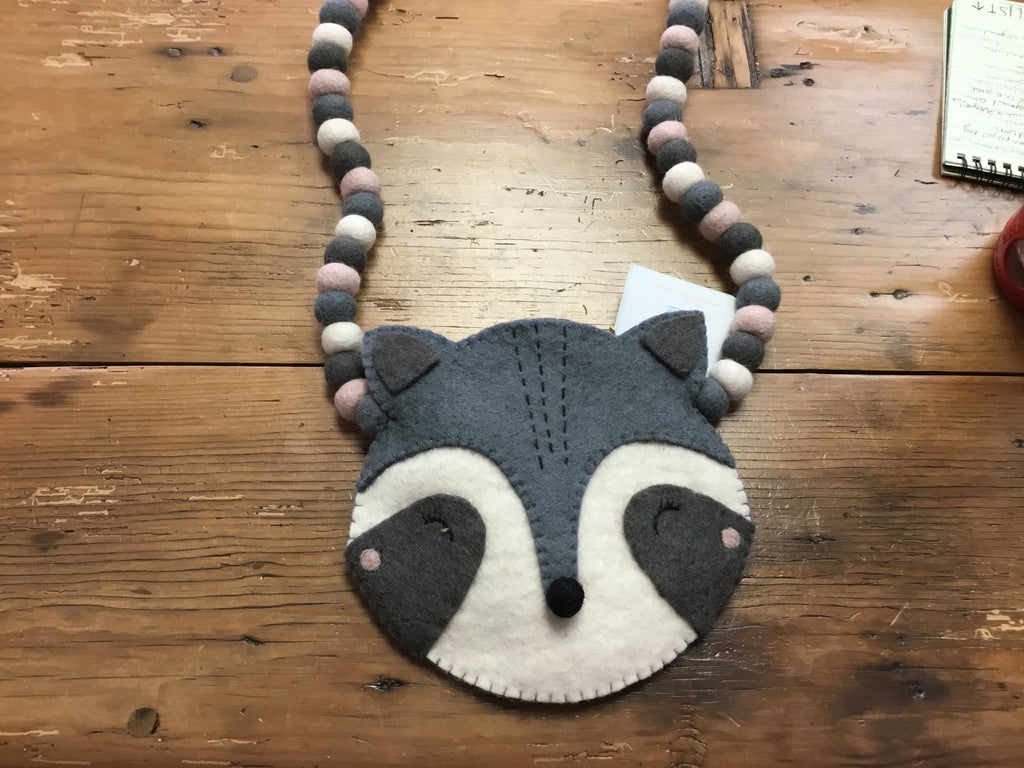 Felted Raccoon Bag
