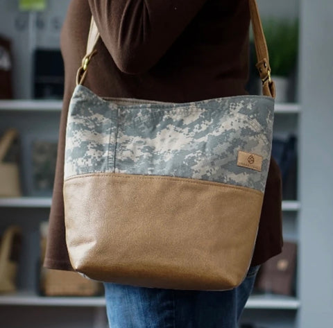 Mixed Media US Army Tote
