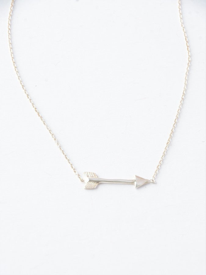 Wandering Arrow Sterling Necklace