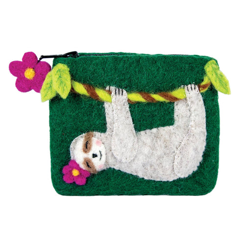 Swingin' Sloth Coin Purse