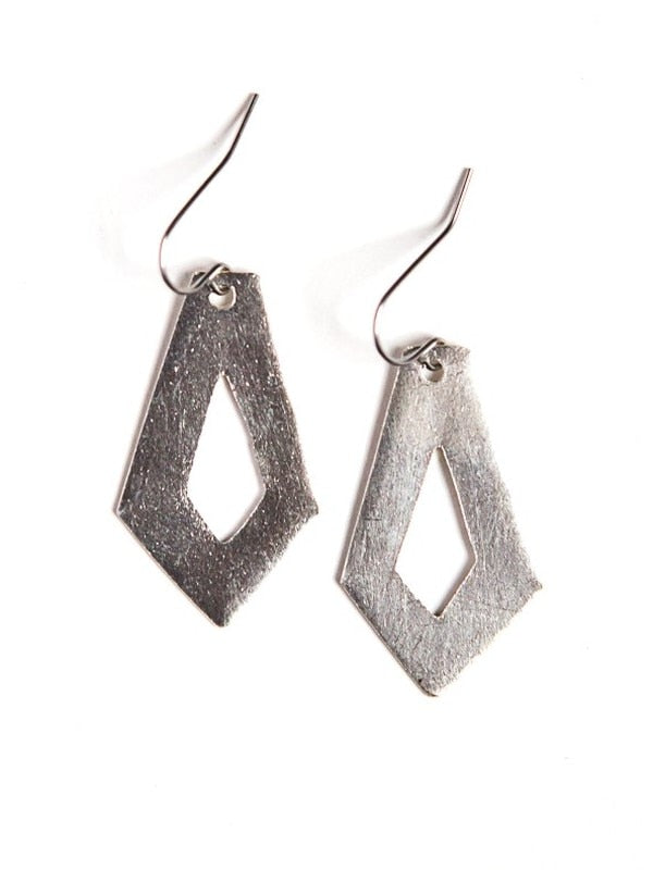 Cut out Artillery Earrings - Silver