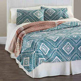 Teal Diamond Full/Queen Quilt