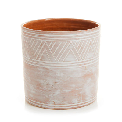 Etched Cylinder Planter - Small (Local Pickup/Local Delivery Only*)