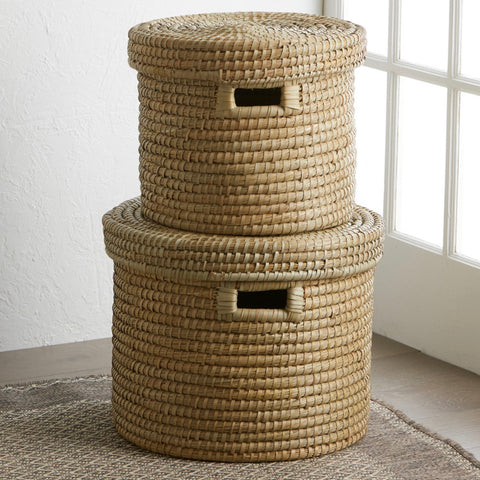 Round Kaisa Grass Basket (Local Pickup/Local Delivery Only*)