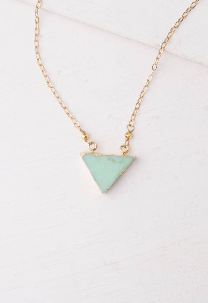 Starfish Project, Inc - Mavi Turquoise Triangle Necklace